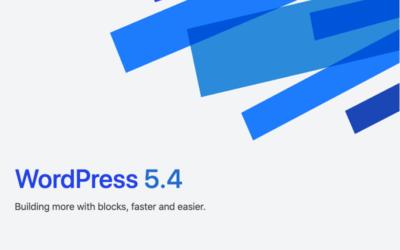 WordPress 5.4 Adderley Update
