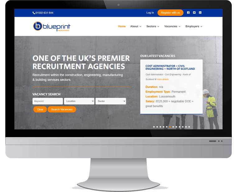 Blueprint Recruitment web design