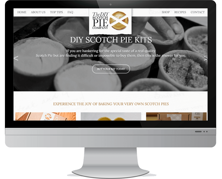 DIY Scotch Pie web design