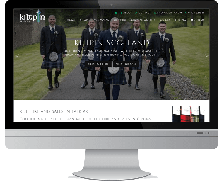 Kiltpin web design
