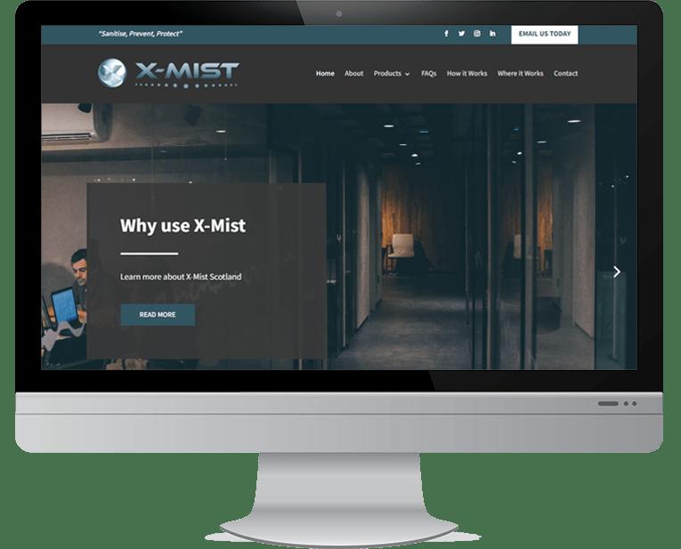 X-Mist Scotland web design