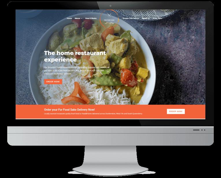 For Food Sake web design